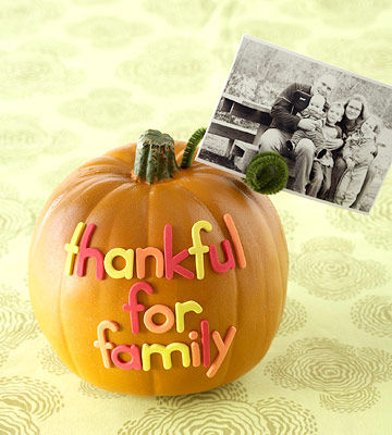 Thankful Family Photo Holder
