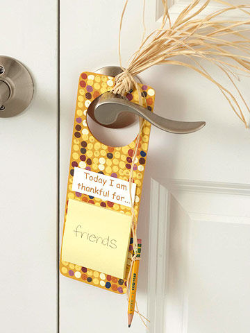 Sticky Note Door Hanger