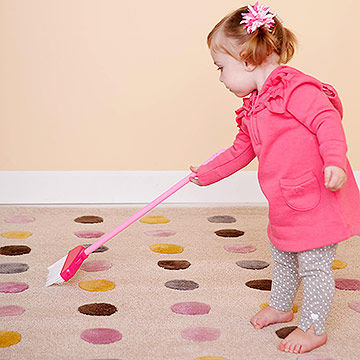 toddler sweeping