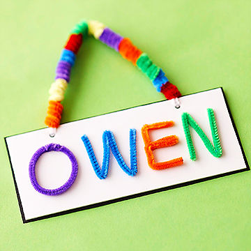 name tag craft ideas chenille stem craft ideas for 5017