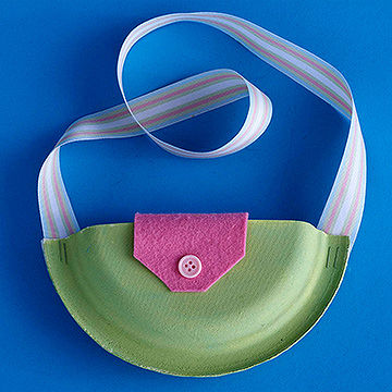 Pretty Paper Purse & Easy Crafts for Kids Made from Paper Plates Cups u0026 Other Dishware