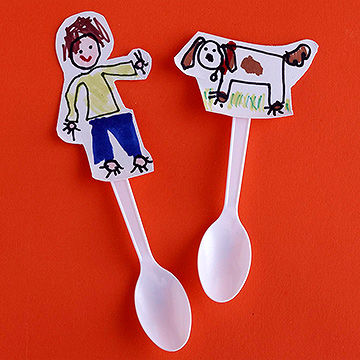 Spoon Puppets  sc 1 st  Parents Magazine & Easy Crafts for Kids Made from Paper Plates Cups \u0026 Other Dishware