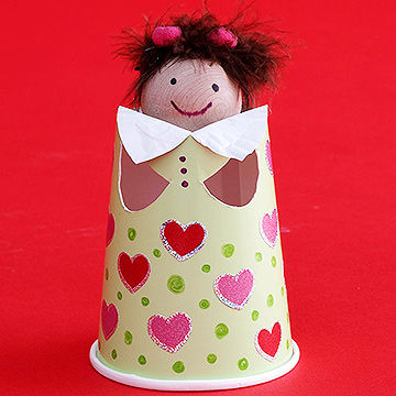 Finger Puppet Cup Doll & Easy Crafts for Kids Made from Paper Plates Cups u0026 Other Dishware