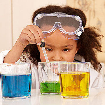 Girl Doing Science Experiment