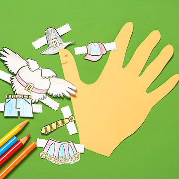 Hand-Turkey Paper Dolls
