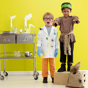 Frankenstein and Mad Scientist costumes