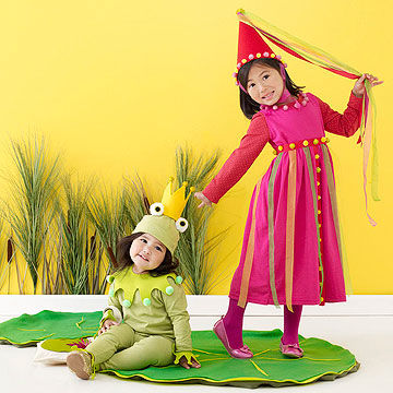 Princess and frog Halloween costume