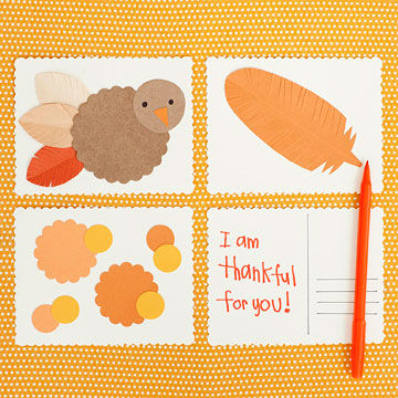 Thankful postcards
