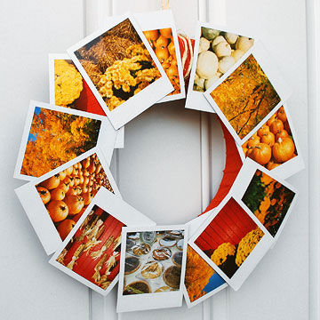 Fall photo wreath