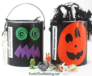 Monster pumpkin paint buckets