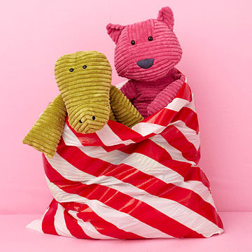 Striped garbage gift bag