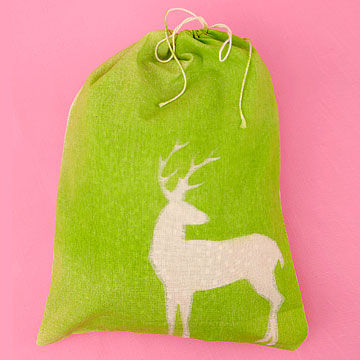 Canvas sack gift bag