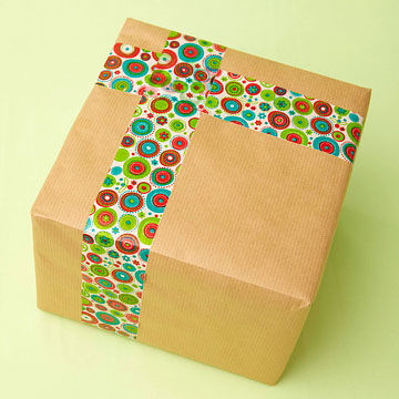 Box with pretty packing tape