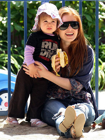 Isla Fisher with daughter Olive