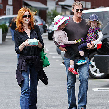 Marcia Cross with her family
