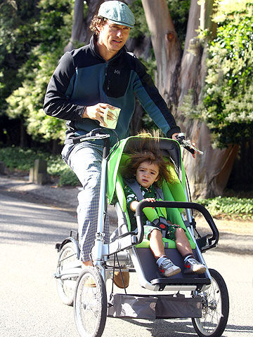 Matthew McConaughey with son