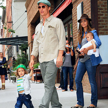 Matthew McConaughey and Camila Alves with their kids Vida McConaughey and Levi McConaughey