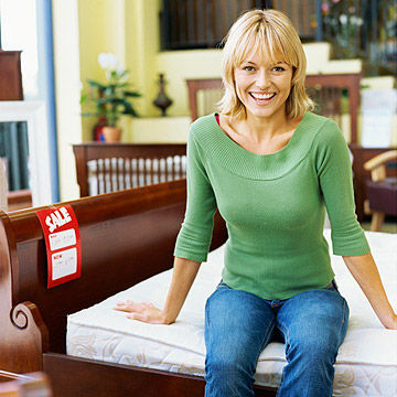 Woman in furniture store