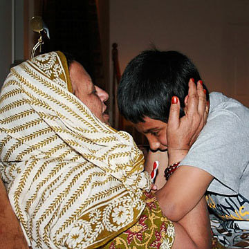 Daanish and grandmother