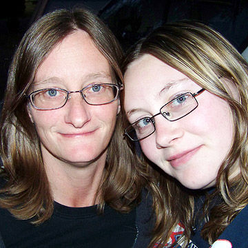 Hollie and her mother
