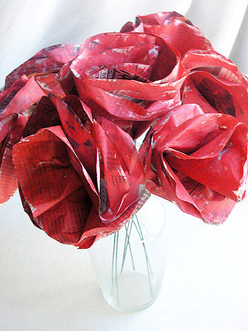 Painted Paper Roses