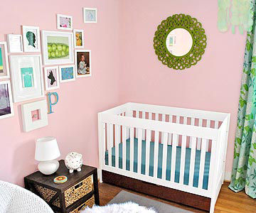 Sherry and John Petersik's Pretty-in-Pink Room for Baby Clara
