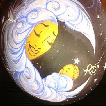 Painted Mom in the Moon Belly