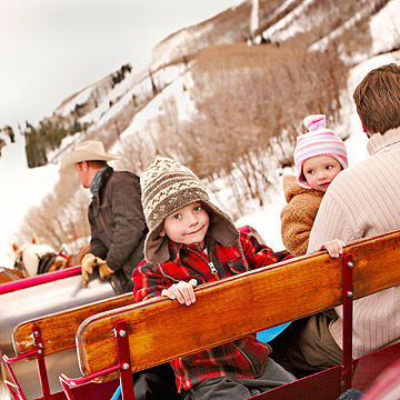 sleigh ride in Park City Utah