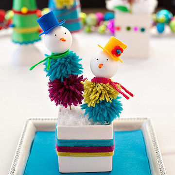 Pom Pom Snow People