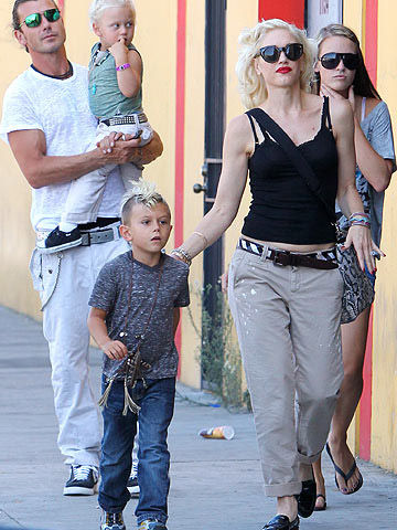 Gwen Stefani, Gavin Rossdale, Kingston Rossdale and Zuma Rossdale