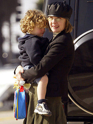 Diane Keaton with son Duke