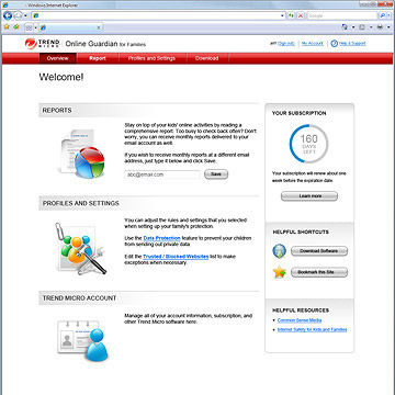 Trend Micro's Online Guardian for Families