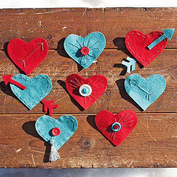 Heart-shaped pins