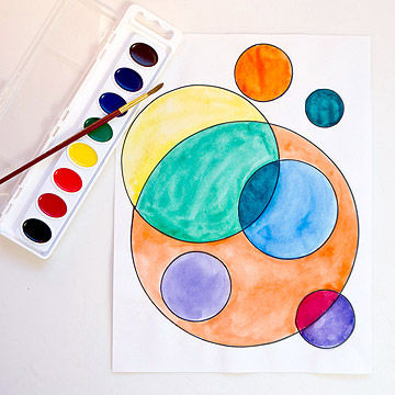 Several Circles by Wassily Kandinsky