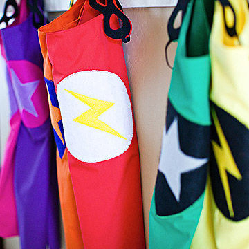 colorful superhero capes