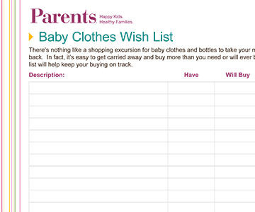 Baby Clothes Wish Lists