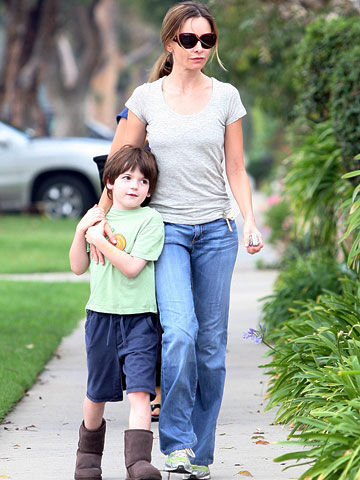 Calista Flockhart and son Liam