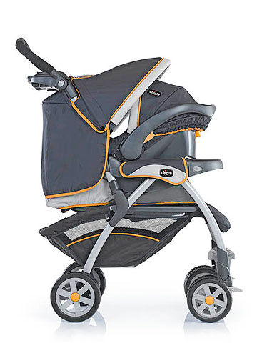 Car Seat Stroller Chicco Cortina Orange And Blue Travel System