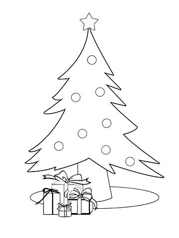 christmas tree coloring pages - Coloring Page Christmas Tree