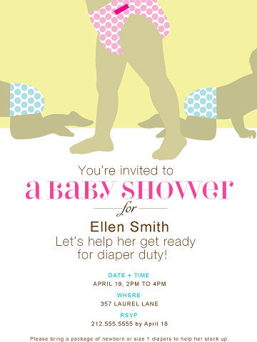 Great Diaper Shower Invite