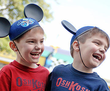 Two boys enjoying Disney World
