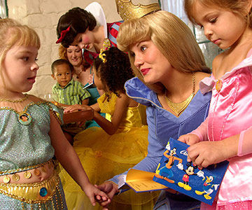 Princess-themed character breakfast with Sleeping Beauty