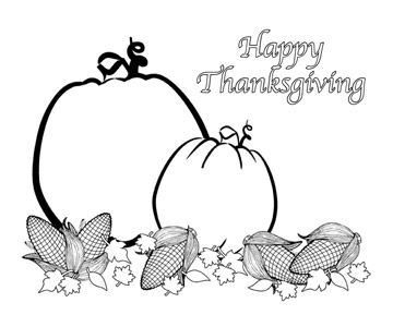 happy thanksgiving coloring pages - Thanksgiving Color Pages Free