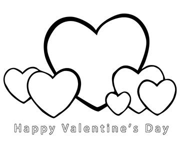 happy valentines day coloring page - Valentines Day Coloring Pages