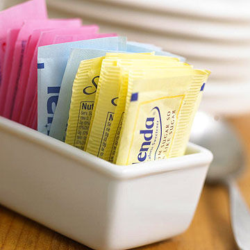 Splenda, Equal and Nutrasweet packets