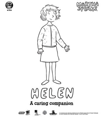 martha speaks coloring pages - photo#25