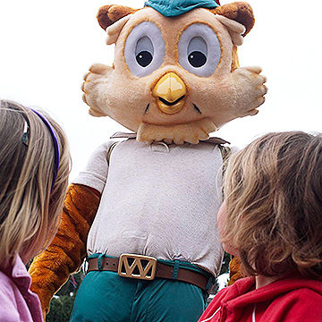 mascot with children