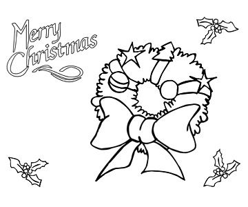 merry christmas coloring pages - Printable Christmas Coloring Pages