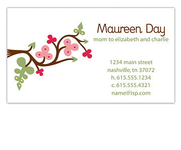 Fruition Designs, mommy calling card, business cards