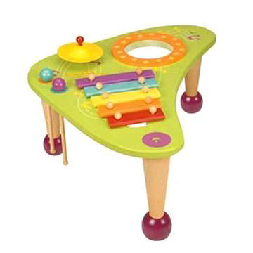 Battat Musical Wooden Table Toys